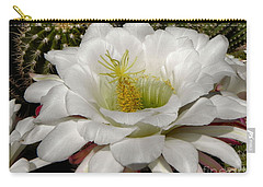Carry-all Pouch featuring the photograph Petals And Thorns by Deb Halloran