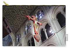 Carry-all Pouch featuring the photograph Peterborough Cathedral England by Jolanta Anna Karolska