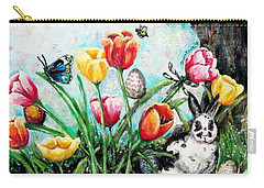 Carry-all Pouch featuring the painting Peters Easter Garden by Shana Rowe Jackson