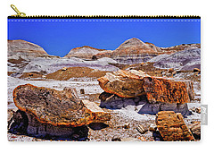 Carry-all Pouch featuring the photograph Petrified Forest - Painted Desert by Bob and Nadine Johnston