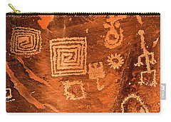 Petroglyph Symbols Carry-all Pouch by Phyllis Denton