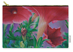 Carry-all Pouch featuring the painting Petunia Skies by Pamela Clements