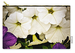 Petunias Carry-all Pouch by Susan Kinney