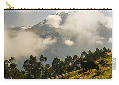 Peru Mountains With Cow Carry-all Pouch by Allen Sheffield