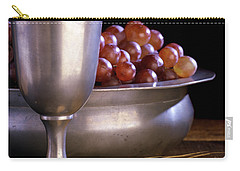 Pewter Chalice Grapes Wheat Communion Carry-all Pouch