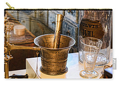 Pharmacist - Brass Mortar And Pestle Carry-all Pouch by Paul Ward