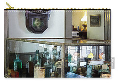 Carry-all Pouch featuring the photograph Pharmacist - Corner Drug Store by Susan Savad