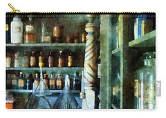 Carry-all Pouch featuring the photograph Pharmacy - Back Room Of Drug Store by Susan Savad