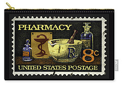 Pharmacy Stamp With Bowl Of Hygeia Carry-all Pouch