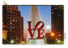 Philadelphia Love Park Carry-all Pouch by Nick Zelinsky