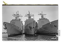 Philadelphia Navy Yard B - W  Carry-all Pouch by Susan  McMenamin