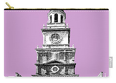 Philadelphia Skyline Independence Hall - Light Plum Carry-all Pouch