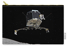Carry-all Pouch featuring the photograph Philae Lander Descending To Comet 67pc-g by Science Source