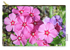 Carry-all Pouch featuring the photograph Phlox Beside The Road by D Hackett