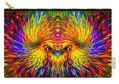 Carry-all Pouch featuring the painting Phoenix Rising  by Jalai Lama