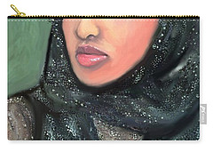 Carry-all Pouch featuring the digital art Phyllis Hyman by Vannetta Ferguson