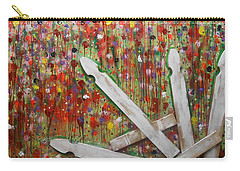 Picket Fence Flower Garden Carry-all Pouch