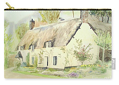 Picturesque Dunster Cottage Carry-all Pouch by Martin Howard