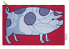 Piddle Valley Pig Carry-all Pouch by Sarah Hough