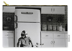 Pie In The Sky In Black And White Carry-all Pouch