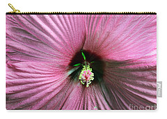 Pie Plate Hibiscus Carry-all Pouch