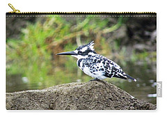 Pied Kingfisher Carry-all Pouch by Tony Murtagh