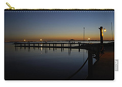 Carry-all Pouch featuring the photograph Pier At Chandlers Landing Rockwall Tx by Charles Beeler