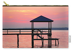 Pier In Pink Sunset Carry-all Pouch