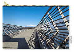 Carry-all Pouch featuring the photograph Pier Perspective by Kate Brown