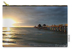 Pier Sunset Naples Carry-all Pouch by Christiane Schulze Art And Photography