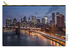 Carry-all Pouch featuring the photograph Piercing Manhattan by Mihai Andritoiu