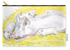 Pig Sow And Piglets Carry-all Pouch
