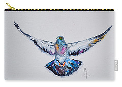 Pigeon In Flight Carry-all Pouch