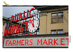 Pike Place Farmers Market Sign Carry-all Pouch