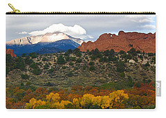 Carry-all Pouch featuring the photograph Pikes Peak Fall Pano by Ronda Kimbrow