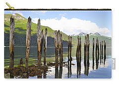 Carry-all Pouch featuring the photograph Pilings by Cathy Mahnke