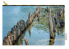 Pilings On Lake Michigan Carry-all Pouch by Paul Freidlund