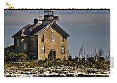 Carry-all Pouch featuring the photograph Pilot Island Lighthouse by Deborah Klubertanz