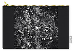 Pine Cones And Patterns - Monochrome Carry-all Pouch