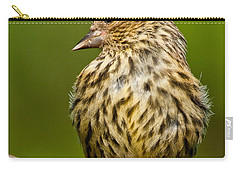 Pine Siskin With Yellow Coloration Carry-all Pouch