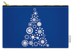 Pine Tree Snowflakes - Dark Blue Carry-all Pouch