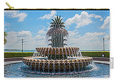 Carry-all Pouch featuring the photograph Pineapple Fountain by Sennie Pierson