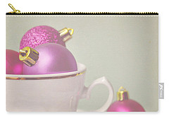 Pink And Gold Christmas Baubles In China Cup. Carry-all Pouch