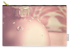 Pink And Gold Ornate Christmas Bauble Carry-all Pouch