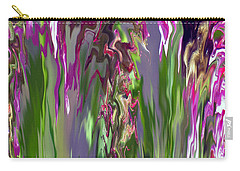 Pink And Green Floral Carry-all Pouch