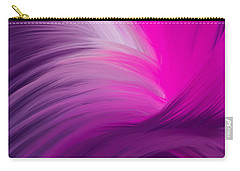 Pink And Purple Swirls Carry-all Pouch