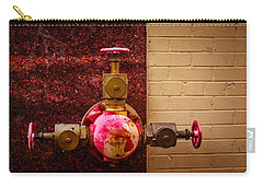 Pink And Rusted Carry-all Pouch