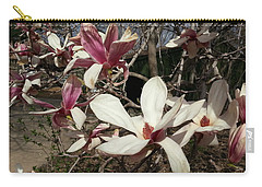 Carry-all Pouch featuring the photograph Pink And White Spring Magnolia by Caryl J Bohn