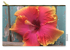 Tropical Pink And Yellow Hibiscus  Carry-all Pouch