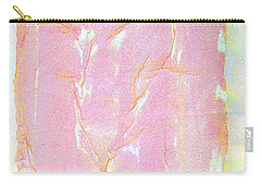 Carry-all Pouch featuring the painting Pink Angel Softly Passing by Asha Carolyn Young